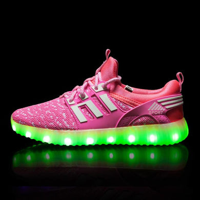 Yeezy Stripe Light Up Shoes - Pink