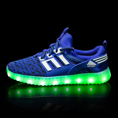 Yeezy Stripe Light Up Shoes - Blue