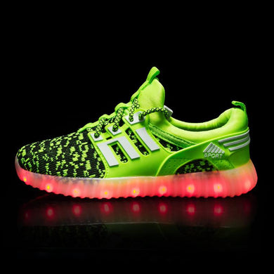 Yeezy Stripe Light Up Shoes - Green