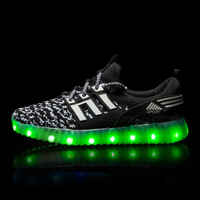 Yeezy Stripe Light Up Shoes - Black