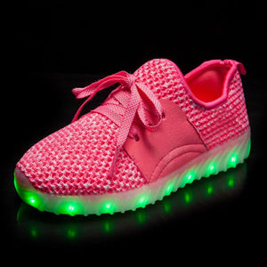New Arrival Kids yeezy Led Shoes - Pink