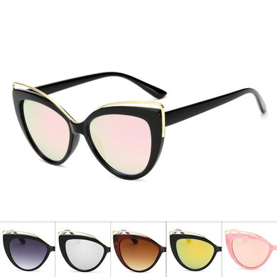 Cat Eye Oceanic Color Lens Wholesale Bulk Sunglasses - Mix Colors