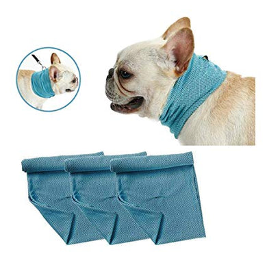 Instant Cooling Pet Bandana-Dog Scarf Summer Cooling Towel Wrap Dog Collar for Bulldog Puppy Cats etc