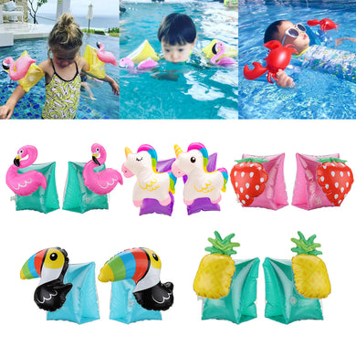Kids Summer Inflatable Safety Swimming Ring Arm Bands Cartoon Water Float