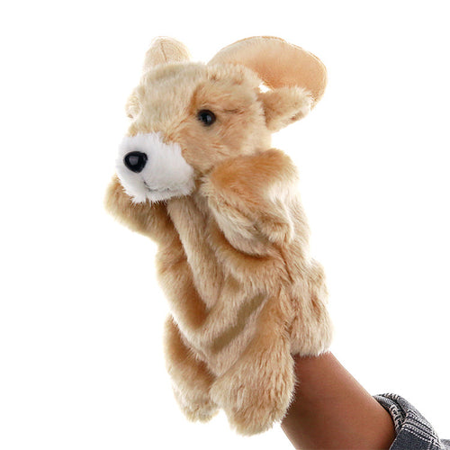 Brown Bunny Hand Stage Puppet Playing, Teaching Plush Toys