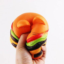 Load image into Gallery viewer, Wholesale Jumbo Cat Hamburgers Squishy Slow Rising Sweet Scented - 9 cm
