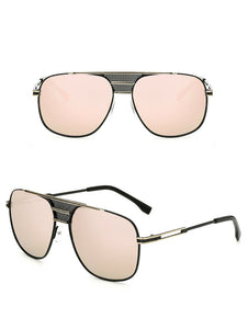 Men's Mirrored Celebrity Sunglasses Metal Frame - Mix Colors