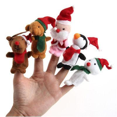 Wholesale 5X Christmas Finger Puppets 5 Styles Pet Set