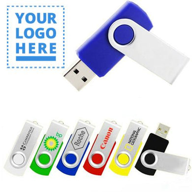 Custom Logo Quality High Storage 4GB or Up Swivel USB Drives