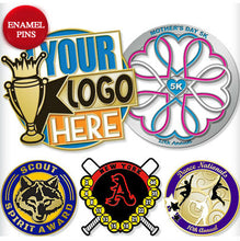 Load image into Gallery viewer, Custom Logo Promotional Enamel Pins, Lapel Pins