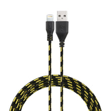 Load image into Gallery viewer, 10 Feet Eco Friendly Braided Nylon Fiber USB Charge and Sync Cables for Iphones