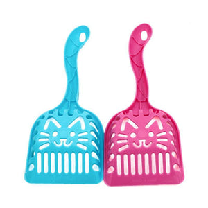 Dog Puppy Cat Kitten Plastic Cleaning Tool Scoop Poop Shovel Waste Tray For Pet Products Supplies