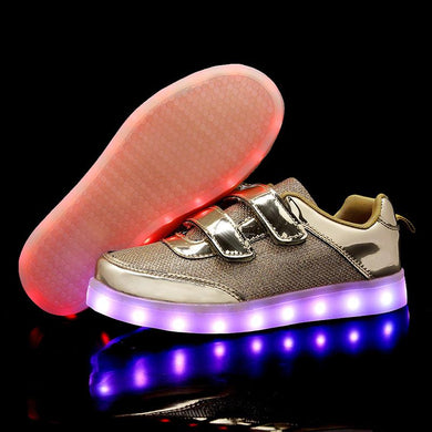 New Arrival Kids Led Shoes - Gold