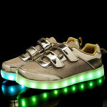 Load image into Gallery viewer, New Arrival Kids Led Shoes - Gold