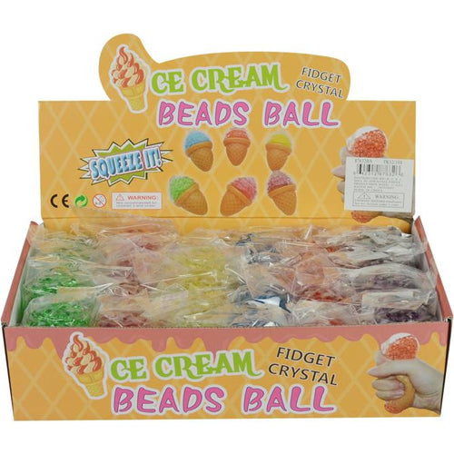 Wholesale 3.5in Squeeze Ice Cream with Beads Inside (24 pcs)