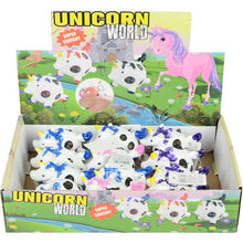 Load image into Gallery viewer, Wholesale Squeeze 4in Unicorn Mesh Ball with Gel Inside (12 pcs)