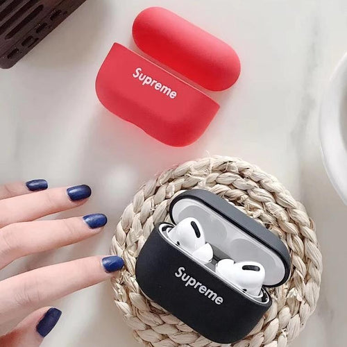 Airpod Pro & Airpod 1/2 Case Cover With Supreme Logo Red and Black