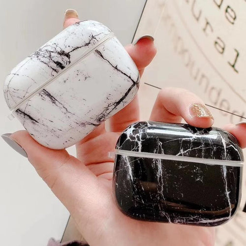 Airpod Pro & Airpod 1/2 Marble Case Cover White And Black Marble