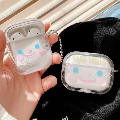 Airpod Pro & Airpod 1/2 Keep Smile Fancy Glitter Case Cover