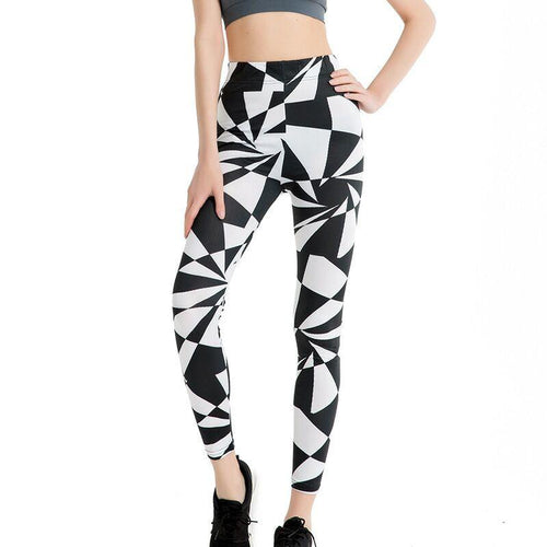 Black And White Painting Fashion Leggings