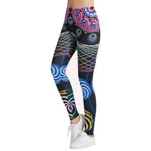 Abstract Shapes Printed Stylish Legging