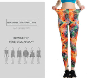 Fish Stylish Leggings - Orange
