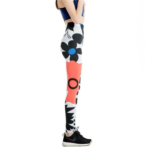 Black Flower Stylish Leggings