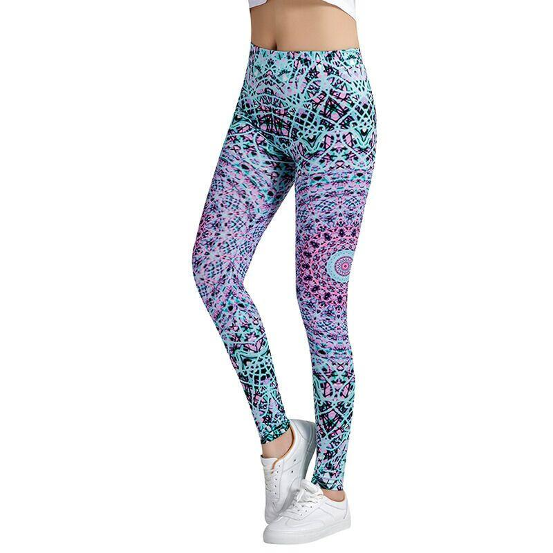 Multi-Color Fashion Leggings - Blue