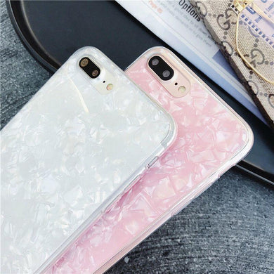 Bestseller Glossy Sea Shell Soft Shock Resistant Case For All Iphone & Samsung Models