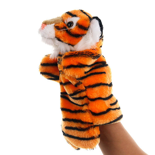 Tiger Hand Stage Puppet Playing, Teaching Plush Toys