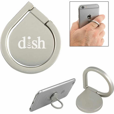 Promotional Custom Logo Aluminum Cell Phone Ring and Stand