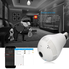 Load image into Gallery viewer, Wireless 360 Wide Angle Light Bulb Hidden Spy Camera 1.3MP HD Wifi Security Camera