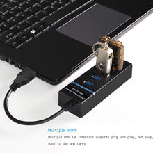 Load image into Gallery viewer, Amazon Bestseller 4-Port USB 3.0 Hub with Individual Power Switches and LEDs