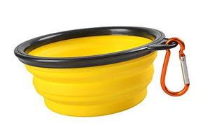 yellow pet bowl