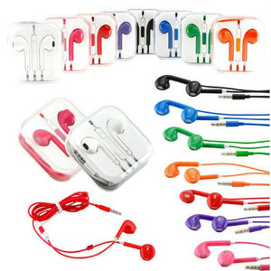 Colorful Earphones with Volume Control and Mic - All Androids/iPhones