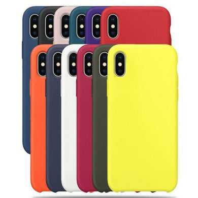 Bestseller Solid Candy Color TPU Rubber Shockproof Protective Phone Case for All IPhone Models