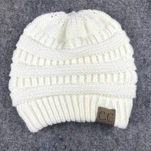 Load image into Gallery viewer, Wholesale Women CC Ponytail Caps CC Knitted Hat Beanie Girls Winter Warm Hats