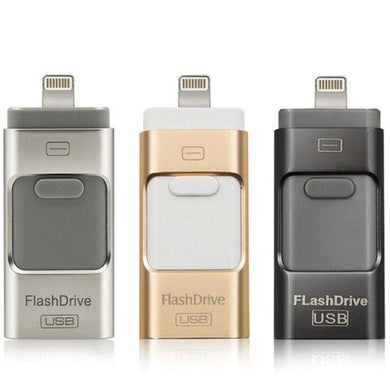 Wholesale iFlash Drive USB Memory Stick HD U-Disk 3 in 1 for Android/IOS iPhone PC