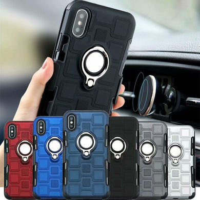 Wholesale Stylish 3 in 1 Protective Shockproof IPhone Case With Smart Ring Holder