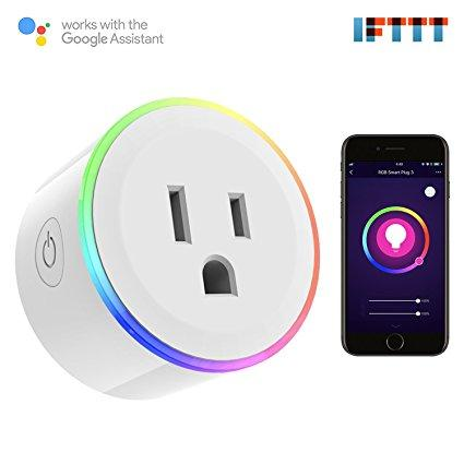 Led Smart Plug Wi-Fi Enabled Mini Smart Socket Compatible with Amazon Alexa Google Home