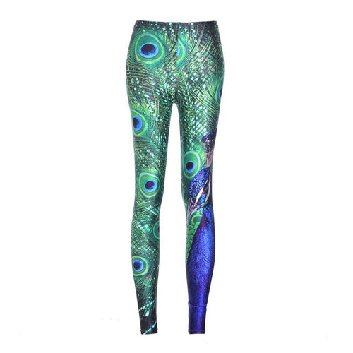 Peacock Printed Stylish Leggings