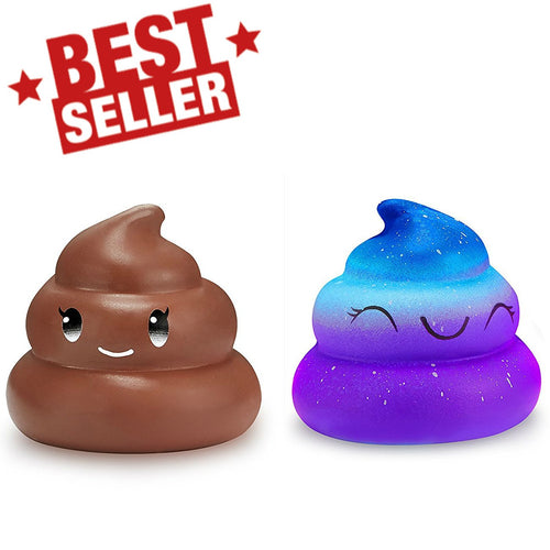 Wholesale Poop Emoji Stress Reliever, Kingfansion Scented Poop Squishy Mixed Two Styles - 10 Pack
