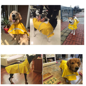 Waterproof Clothes Lightweight Rain Jacket Poncho with Strip Reflective