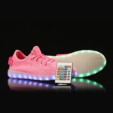 Remote Control Yeezy Light Up Shoes - Pink
