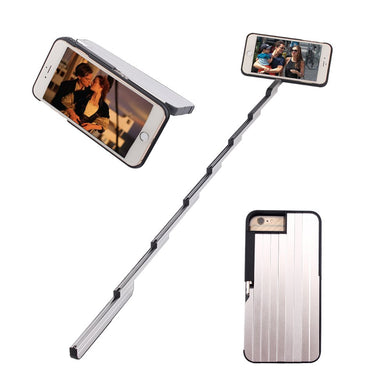 Extendable Selfie Stick and Kickstand Phone Case WIth Rechargeable Bluetooth