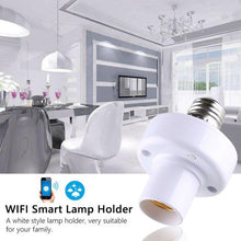 Load image into Gallery viewer, Wifi Bulb Holder Smart Led Light Base Socket App Remote Control By IOS Android AC100-250V