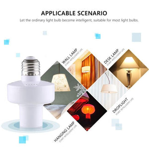 Wifi Bulb Holder Smart Led Light Base Socket App Remote Control By IOS Android AC100-250V