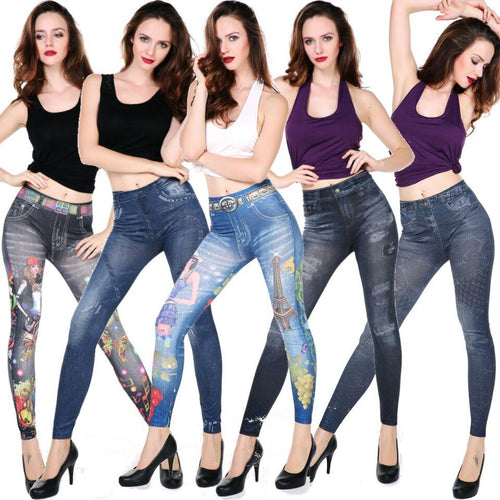 Free Size Comfortable Jean Leggings Mix Styles