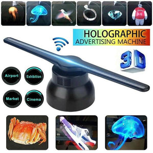 3D Hologram Photos and Videos Advertising Display LED Fan, Best for Stores, Shops, Bars, Casinos, Holiday Events