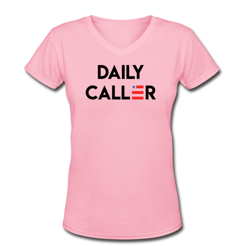 Women's Premium V-Neck T-Shirt - pink